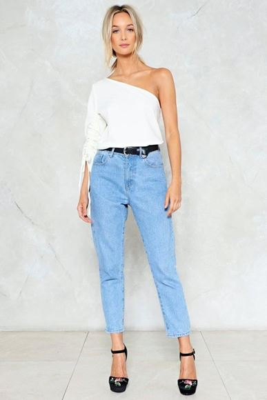 Picture of NASTY GAL Always Remember One Shoulder Top White Size 10 - Free delivery - www.summahaus.com.au