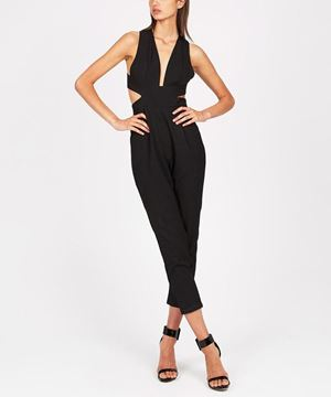 Picture of Brand New MOSSMAN Take A Bow Jumpsuit Size 14 Black RRP $119.95 - Free Delivery - www.summahaus.com.au